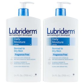 Lubriderm Daily Moisture Body Lotion, Fragrance-Free (24 oz., ea. 2  pk.)