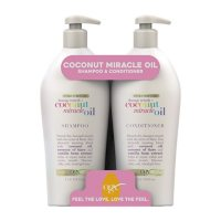 OGX Extra Strength Damage Repair + Coconut Miracle Oil Shampoo & Conditioner with Salon Pump (33.8 fl., oz. 2 pk.)
