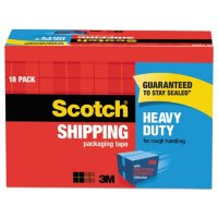 """Scotch 3850 Heavy-Duty Packaging Tape Cabinet Pack, 3"""" Core, 1.88"""" x 54.6 yds, Clear, 18/Pack"""