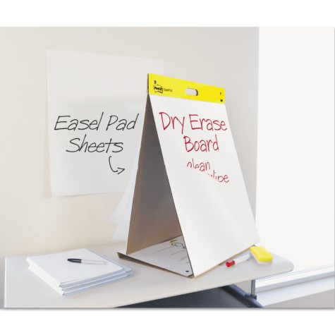 """Post-it® Easel Pads Super Sticky Dry Erase Tabletop Easel Pad - 20"""" x 23"""" - White - 20 Sheets/Pad"""