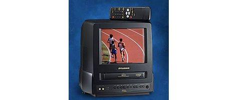"Sylvania® 9"" Flat Tube TV/VCR"