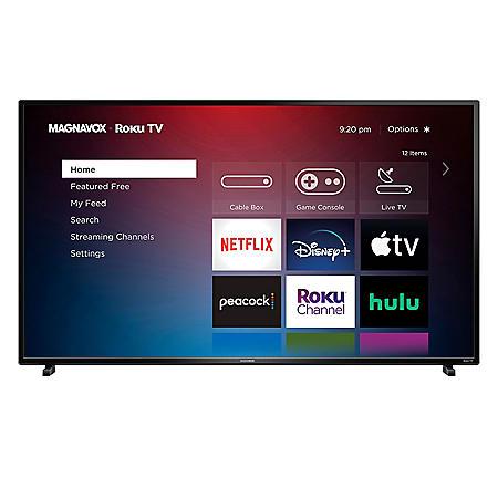 "Magnavox 55"" Class 4K UHD HDR Smart Roku TV – 55MV379R/F7"