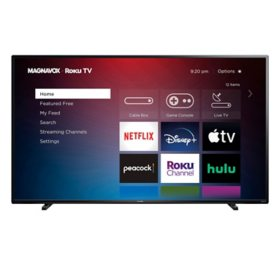 "MAGNAVOX 65"" Class 4k Ultra HD Roku Smart LED HDTV w/ High Dynamic Range – 65MV379R/F7"