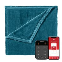 Sunbeam Velvet Wi-Fi Connected Heated Blanket (Assorted Colors and Sizes)