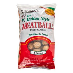 DiRusso's Italian Style Fully Cooked Meatballs, Frozen (5 lbs.)