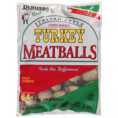 DiRusso's Turkey Meatballs (64 oz.)