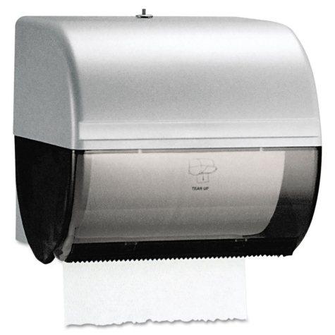Kimberly-Clark Professional - Omni Roll Towel Dispenser, 10 1/2 x 10 x 10 -  Smoke/Gray