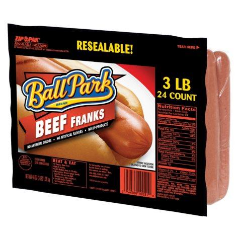 Ball Park Beef Franks - 3 lbs.