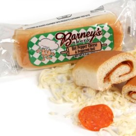Barney's Bakery Hot Pepper Cheese and Pepperoni Roll