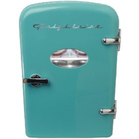 Frigidaire Mini Retro Beverage Fridge (Assorted Colors)