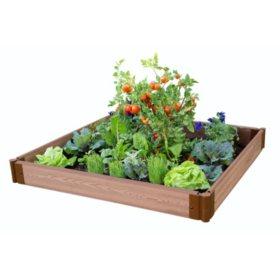 "Classic Sienna Raised Garden Bed 4' x 4' x 5.5"" - 1"" Profile"