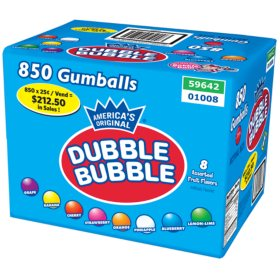 Dubble Bubble 24mm Gumballs Assorted Fruit (17.27lbs.)