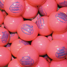 "Dubble Bubble Pink ""1928"" 24mm Gumballs - 850 count"