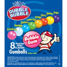 Dubble Bubble Assorted Gumballs, Select Size
