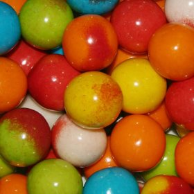 Dubble Bubble 24mm Filled Gumballs, Select Flavor (19.6lbs.)