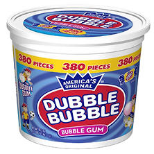 Dubble Bubble Bubblegum - 380ct Tub