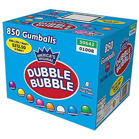 Dubble Bubble Gumballs Assorted Fruit Flavors (24mm, 850 ct.)