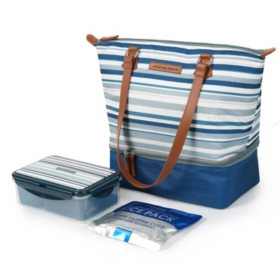 Arctic Zone Dual Compartment Ladies Lunch Tote (Assorted Colors)