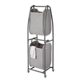 neatfreak 2-Tier Rolling Vertical Laundry Sorter