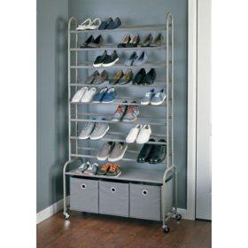 neatfreak High Capacity Rolling Shoe Tower with Bins