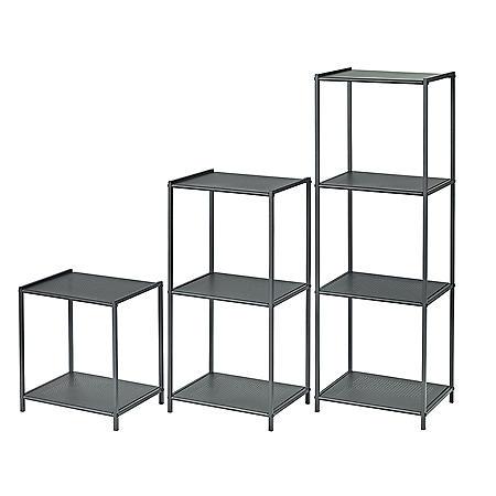 neatfreak Stamped Metal Storage Shelf - Set of 3