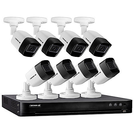 Defender Ultra HD 4K (8MP) 2TB Wired Security System with 8 Night Vision Cameras