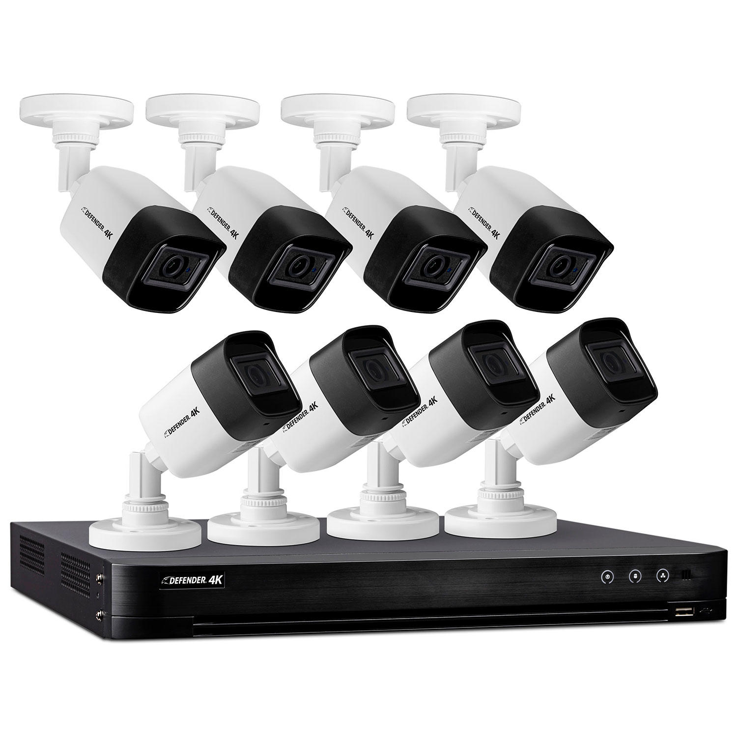 Defender 4K2T8B8 Ultra HD 4K (8MP) 2TB Wired Security System with 8 Night Vision Cameras