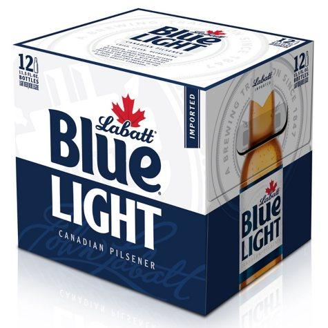 Labatt Blue Light Beer (11.5 oz. bottles, 12 pk.)