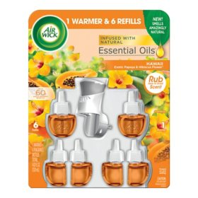 Air Wick Scented Oil Air Freshener, Warmer + 6 Refills (Choose Your Scent)