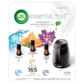 Air Wick Essential Mist Fragrance Oil Diffuser Kit Mist 1+3 Air Freshener