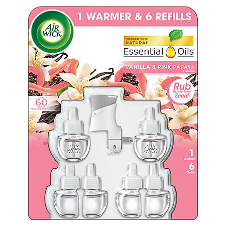 Air Wick Scented Oil 6 Refills + Warmer, Air Freshener (Choose Your Scent)