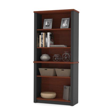 Bestar Prestige + OfficePro 99000 Modular Bookcase, Bordeaux/Graphite