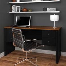 Bestar Somerville HomePro 45000 Workstation, Black/Tuscany Brown