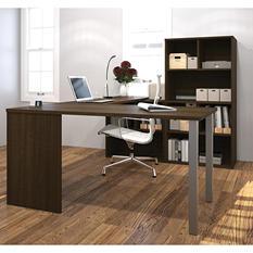 Bestar i3 OfficePro 150000 U-Shaped Desk with Metal Legs, Select Color
