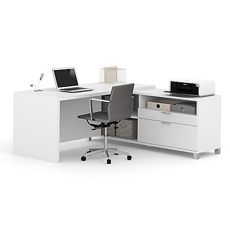 Bestar Pro-Linea OfficePro 120000 L-Shaped Desk, Select Color