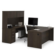 "Bestar Embassy OfficePro 60000 71"" U-Shaped Desk, Select Color"