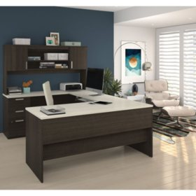 Bestar Ridgeley U-Shaped Desk, Select Color