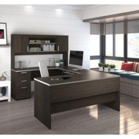 Bestar Ridgeley U-Shaped Desk, Select Color