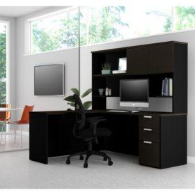 Desks With Hutches Storage Desk In Kitchen