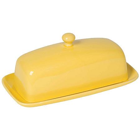 Now Designs Rectangular Butter Dish, Lemon Yellow