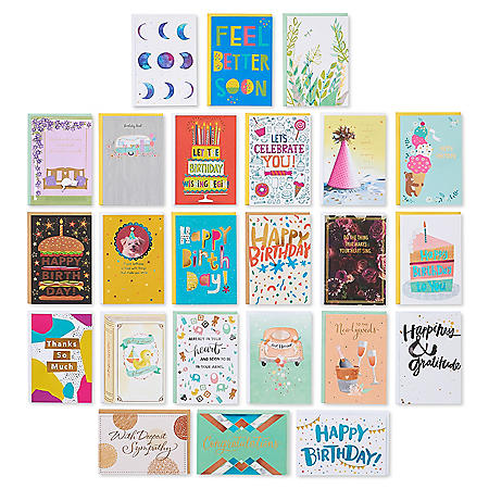 American Greetings Multi-Occasion Handmade Boxed Assorted Greeting Cards Set (Pack of 24)