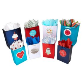 """American Greetings """"Design Your Own"""" Gift Bag, Tissue Paper and Adhesive Attachment Kit"""