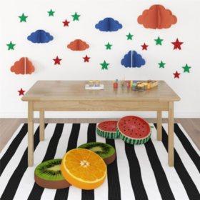 Bertini Kids Domino Rectangular Activity Table, Natural