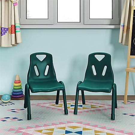 Bertini Kids Bunny Stacking Activity Chairs, Green (2-Pack)