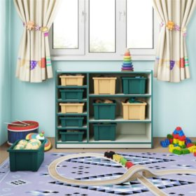 Bertini Kids Bunny Small Storage Bins, Green (4-Pack)