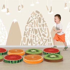 Bertini Kids Floor Cushion, Assorted Colors (10-Pack)
