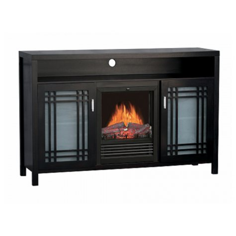 "Electric Fireplace with 54"" Mantel TV Unit"