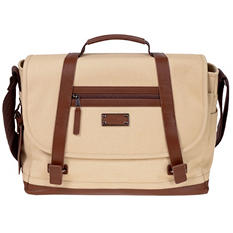 Renwick Messenger Bag with Genuine Leather Trim (Assorted Colors)