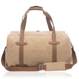 Renwick Canvas Duffle with Genuine Leather Trim, Choose a Color