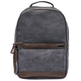 Renwick Canvas Backpack with Genuine Leather Trim, Choose a Color